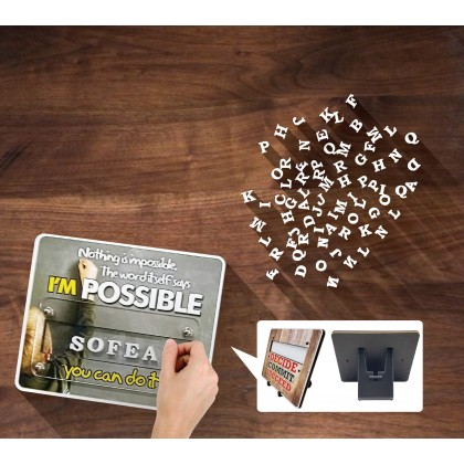 Motivational Plaque - The World Without You Is Just Boring
