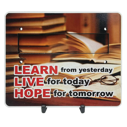 Motivational Plaque - Learn From Yesterday