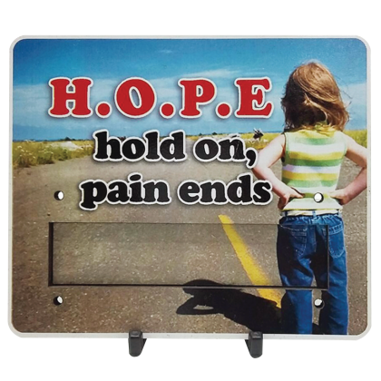 Motivational Plaque - Hold On Pain Ends