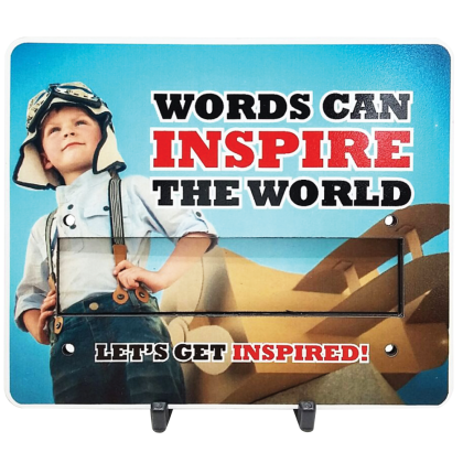 Motivational Plaque - Words Can Inspire The World