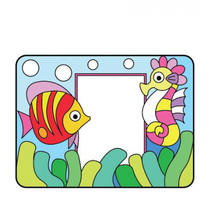 Acrylic Photo Frame Painting - Fish And Seahorse