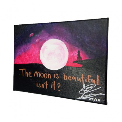 The Moon Acrylic Painting On Canvas