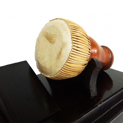 Gedombak Melayu Replica - Traditional Musical Instrument in Acrylic Display Case